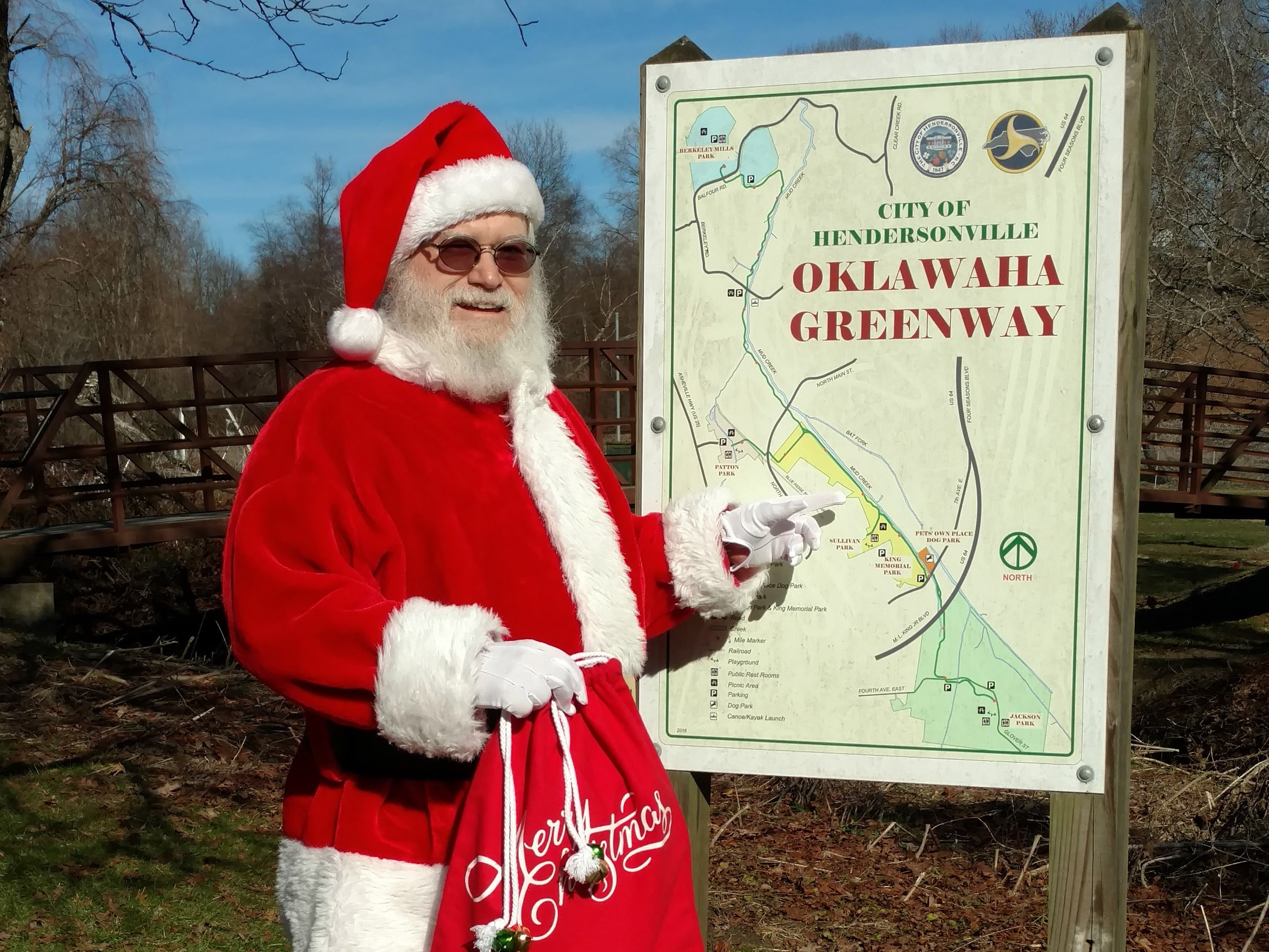 Santa on the Greenway